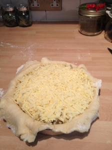 Add a layer of grated cheese