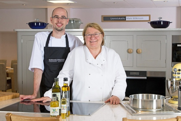Rosemary Shrager and her Executive Chef John Rogers